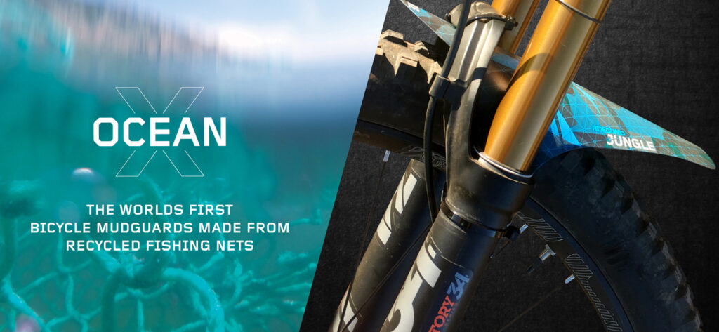 OceanX bicycle mudguards made from ocean plastics