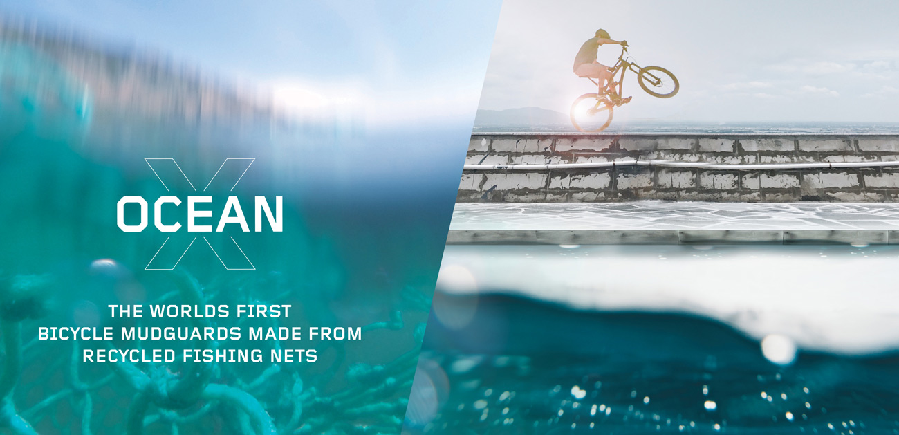 OceanX Mudguards made from recycled fishing Nets