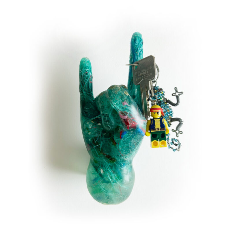 Ocean Plastics Rad hand/ Shaka Sign Key Holder Keys 2