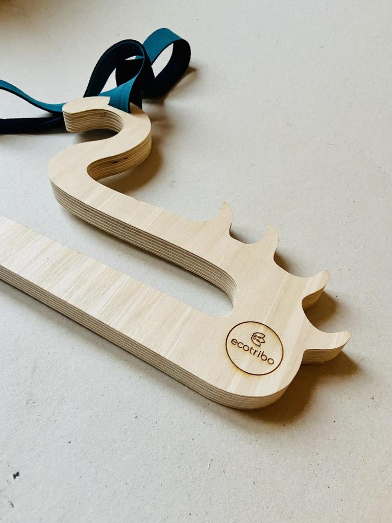 Wetsuit hanger made from recycled wetsuits