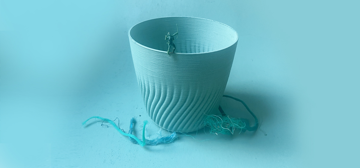 Oceana Plant Pot made from recycled ocean plastics